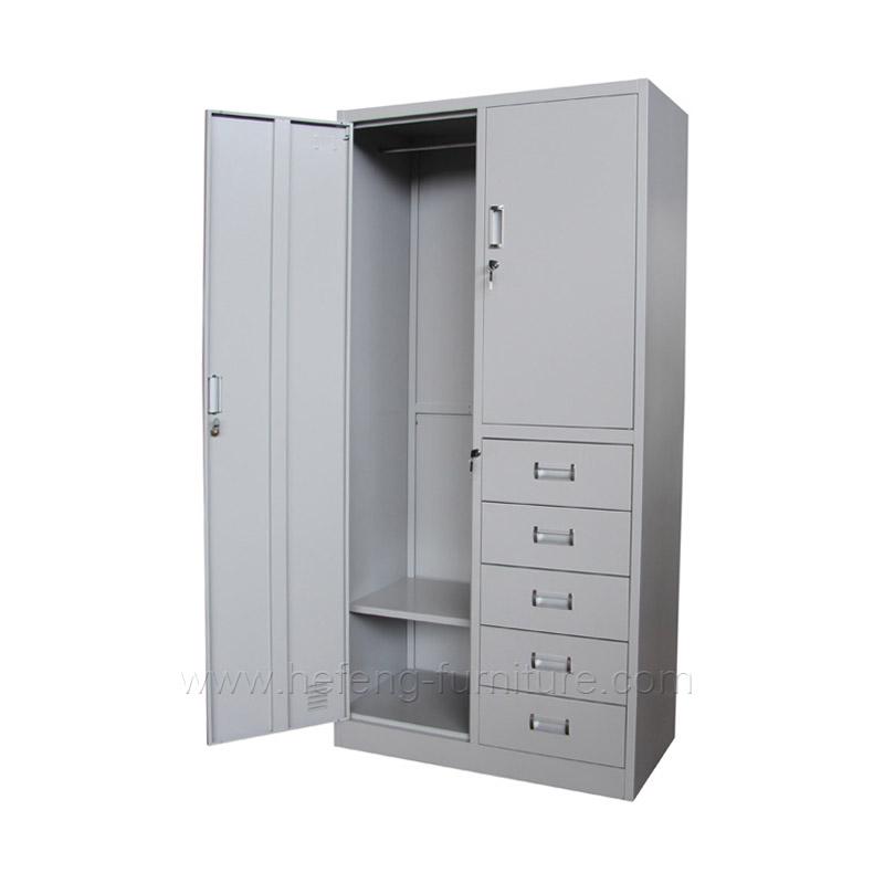 Металлический шкаф с 5 выдвижными ящиками