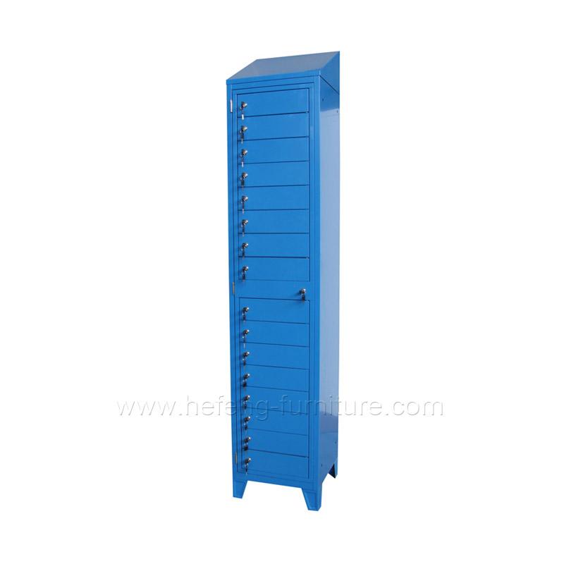 Металлический шкафчик с 16 отделений