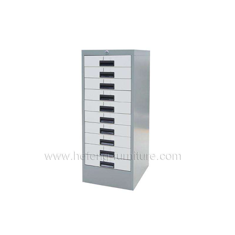 Шкаф металлический для хранения с 10 ящиками