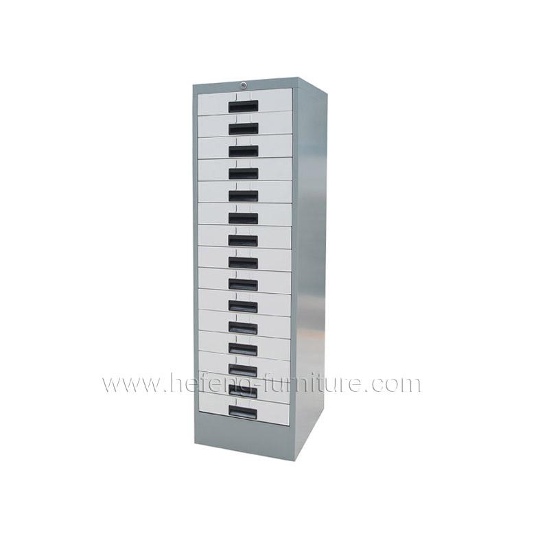 Шкаф металлический с 15 ящиками